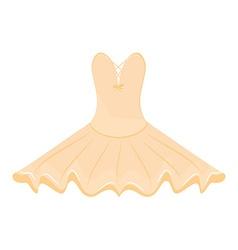 Orange ballet dress vector