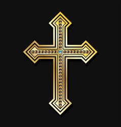 orthodox christian cross vector image