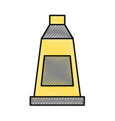 Paint bottle isolated icon vector