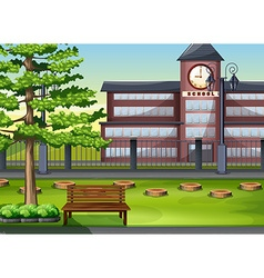 School building and playground vector image vector image