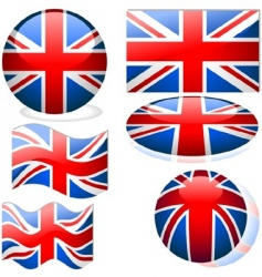united kingdom flags vector image vector image