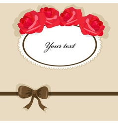 background with roses 3 vector image vector image
