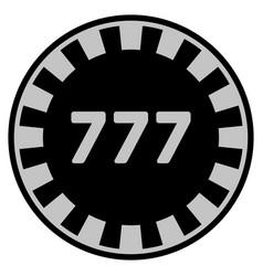 777 black casino chip vector