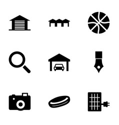 9 detail icons vector image