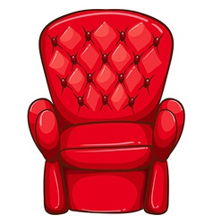 A simple drawing of a red chair vector