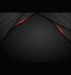 abstract black with red frame template layout vector image