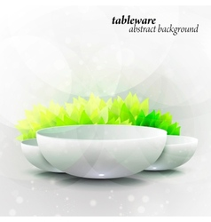 Abstract tableware vector