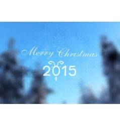 Abstract winter christmas greeting design vector image