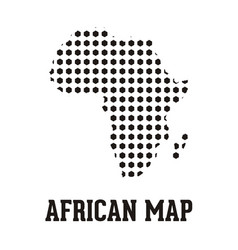 african map vector image