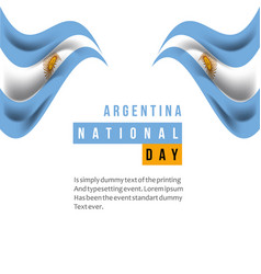 Argentina national day template design vector