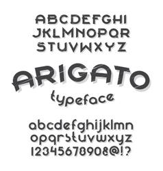 Arigato typeface vector image