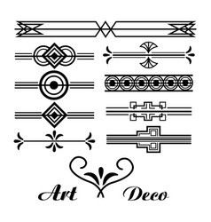 Art deco vignette vintage ornament abstract vector