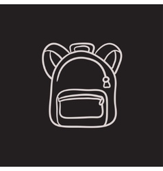 Backpack sketch icon vector image
