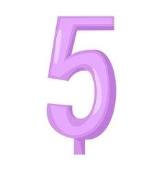 birthday number candles vector image