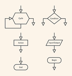 Blocks of block diagram vector