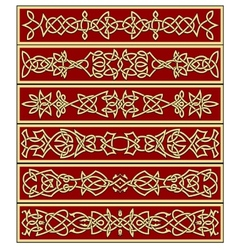 Borders and frames in celtic style vector image