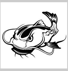 Cartoon catfish isolated vector