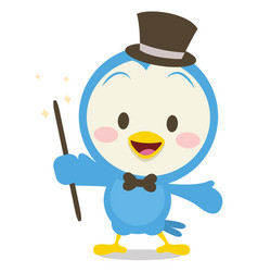Character of magician dove vector