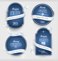 christmas emblems vector image