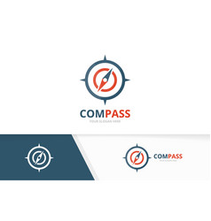 Compass logo combination navigation symbol vector