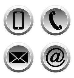 Contact buttons set vector