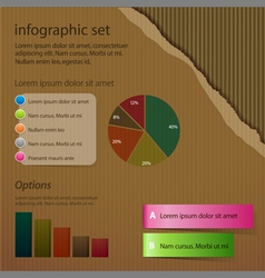 Corrugated cardboard infographic vector