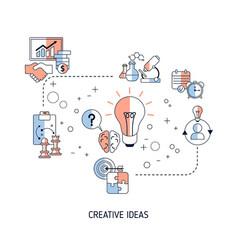 creative idea and innovation concept creative vector image