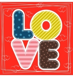 Cute greeting card for Happy Valentine S Day vector
