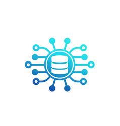 data mining icon on white vector image