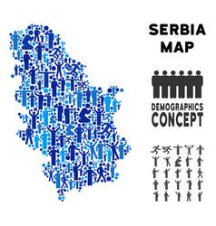 Demographics serbia map vector