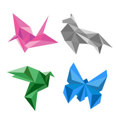 design of origami paper animal vector image