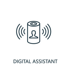 Digital assistant outline icon thin line style vector