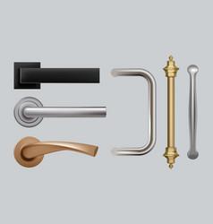 Doors handles modern detailed high quality vector