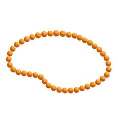 elegance necklace icon cartoon style vector image