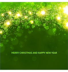 Elegant Christmas Background in Green vector image
