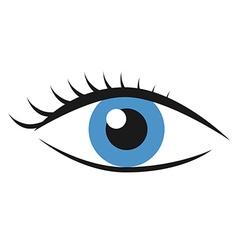Eye with eyelashes vector