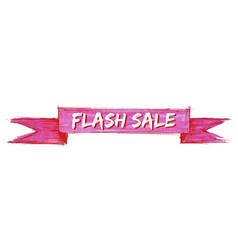 Flash sale ribbon vector