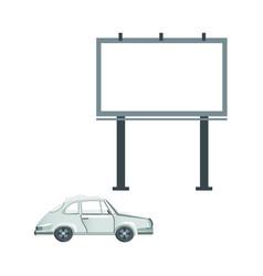 Flat passenger car billboard icon set vector