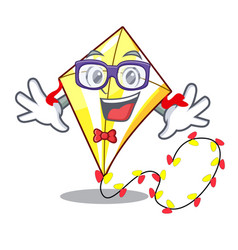 Geek kite small the cartoon on table vector