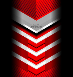 Geometric graphic red background vector