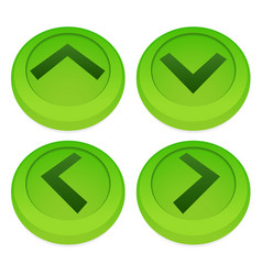 Green arrows up down left right vector