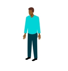 Isometric afro-american man vector