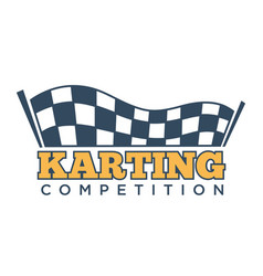 Karting club or kart races sport competition vector