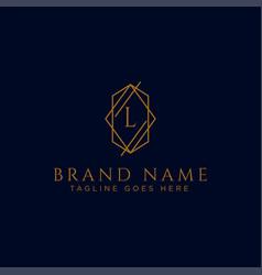Luxury logotype premium letter l logo with golden vector