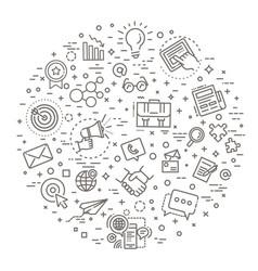 marketing concept line design vector image