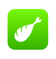meat on the bone icon digital green vector image