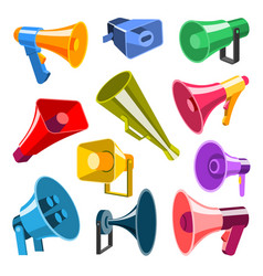 megaphone 3d style very hight voice volume speaker vector image