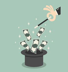 money of magic vector image