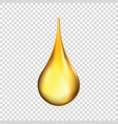 oil drop isolated vector image