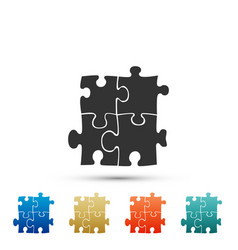 piece of puzzle icon isolated on white background vector image